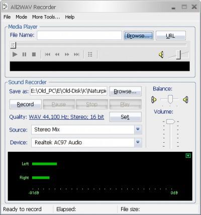 All2WAV Recorder 5.0 screenshot