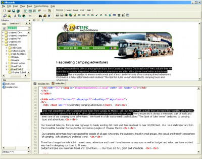 Alleycode HTML Editor 2.21 screenshot