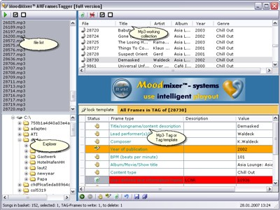 AllFrames MP3 Tagger 2.01 screenshot