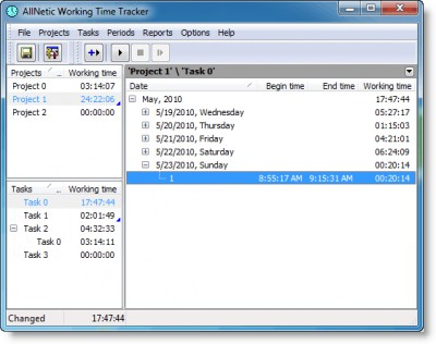 AllNetic Working Time Tracker 3.0 screenshot
