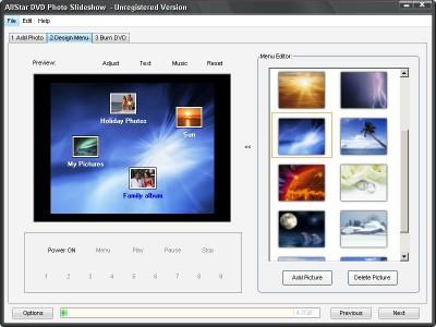 AllStar DVD Photo Slideshow 3.10 screenshot
