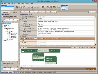 AllWebMenus Pro 5.3.940 screenshot