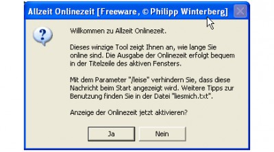 Allzeit Onlinezeit 3.79 screenshot