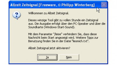 Allzeit Zeitsignal 2.00 screenshot