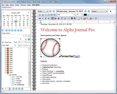 Alpha Journal Pro 5.5.0.0 screenshot