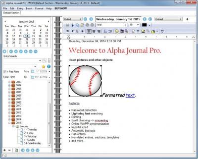 Alpha Journal Pro 5.5.0.0 screenshot