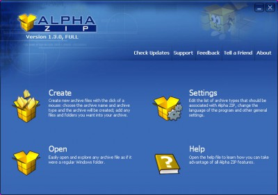 Alpha ZIP 1.3 screenshot