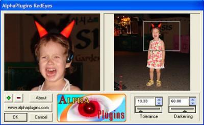 AlphaPlugins RedEyes 1.0 screenshot