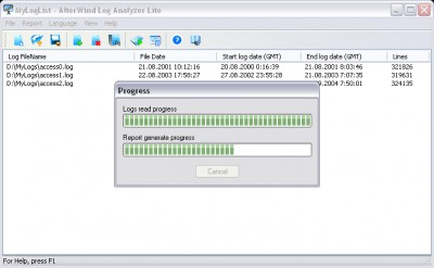 AlterWind Log Analyzer Lite 4.0 screenshot