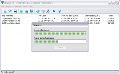 AlterWind Log Analyzer Professional 4.0 screenshot