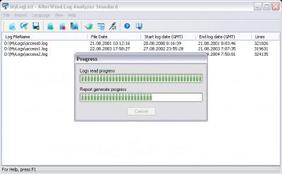 AlterWind Log Analyzer Standard 4.0 screenshot