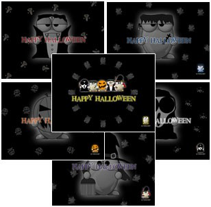 ALTools Halloween Monster Desktop Wallpapers 2004 screenshot