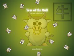 ALTools Lunar Zodiac Bull Wallpaper 2005 screenshot