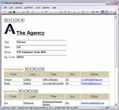 Altova Authentic Enterprise Edition 2020 screenshot