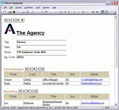 Altova Authentic Enterprise Edition 2020r2sp1 screenshot