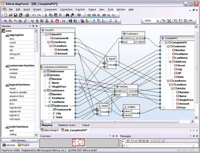 Altova MapForce Enterprise Edition 2017sp1 screenshot