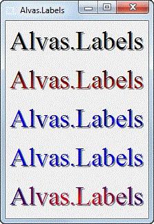 Alvas.Labels 2.1 screenshot