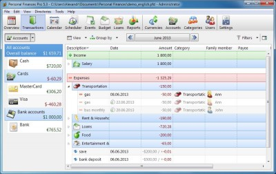 Alzex Personal Finance 5.9 screenshot