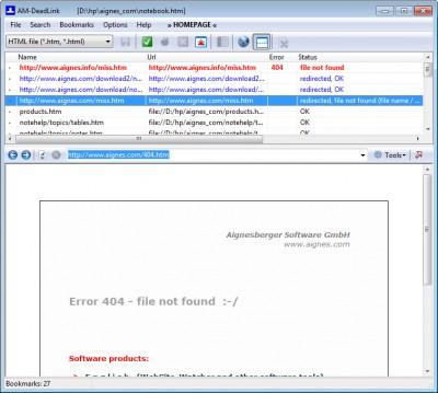 AM-DeadLink 4.7 screenshot
