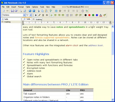 AM-Notebook Lite 6.0 screenshot
