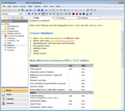 AM-Notebook 6.3 screenshot