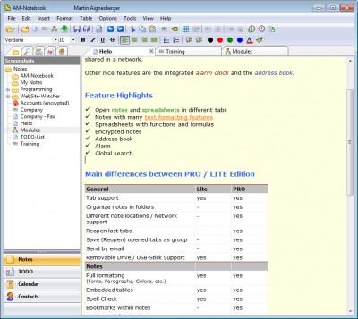 AM-Notebook 6.3 screenshot