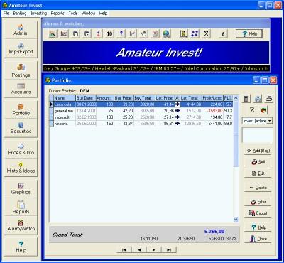 Amateur Invest 2010A+ screenshot