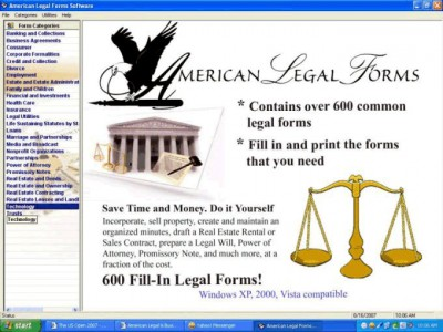 American Legal and Business Forms 1.01 screenshot