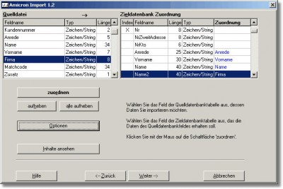 Amicron-Import 1.2 screenshot
