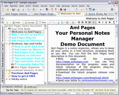 Aml Pages German Version 9.88b2809 screenshot