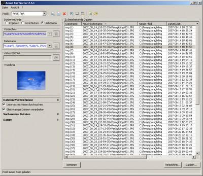 AmoK Exif Sorter 2.52 screenshot