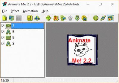 Animate Me! 2.2 screenshot
