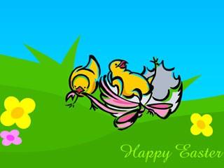 Animated Easter Chicks Wallpaper 1.0 screenshot