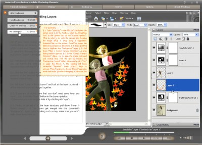 Animated Intro to Photoshop Elements 5.1.2 screenshot