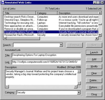 AnnWebLinks 2.0 screenshot