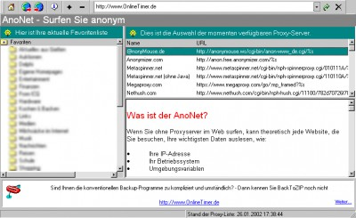 AnoNet 1.30 screenshot