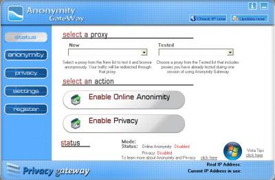 Anonymity Gateway 3.3 screenshot