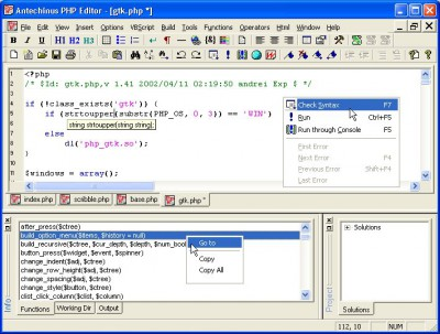 Antechinus PHP Editor 10.0 screenshot