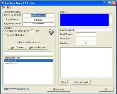 Anti Spam Boy 2.3 screenshot
