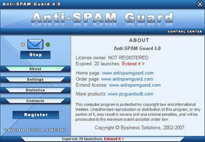 Anti-SPAM Guard 4.0 screenshot