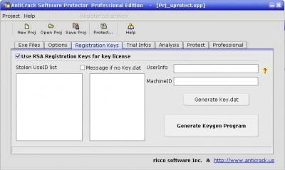 AntiCrack Software Protector Basic 1.09 screenshot