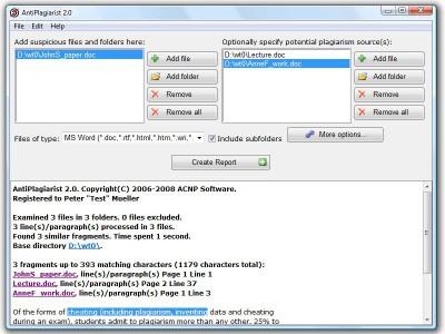 AntiPlagiarist 2.7 screenshot
