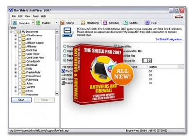 Antivirus Shield Pro - Antivirus & Firewall 2007 screenshot