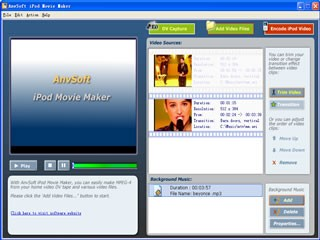 AnvSoft iPod Movie Maker 1.101 screenshot