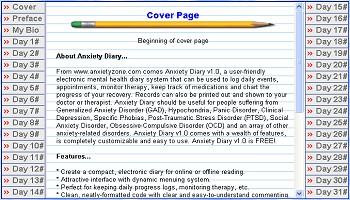 Anxiety Diary 1.0 screenshot