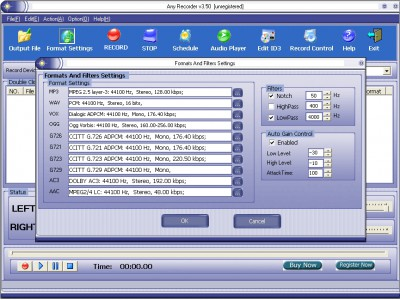 Any Recorder 3.60 screenshot