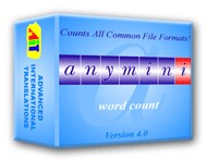 AnyMini W: Word Count Software 5 screenshot