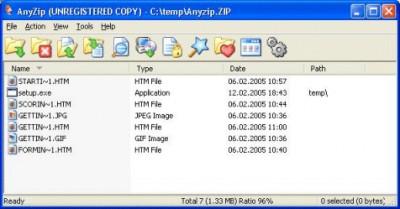 AnyZip 1.10 screenshot