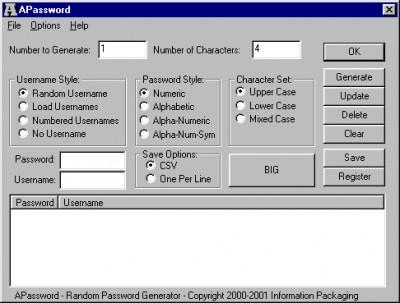 APassword 1.01 screenshot