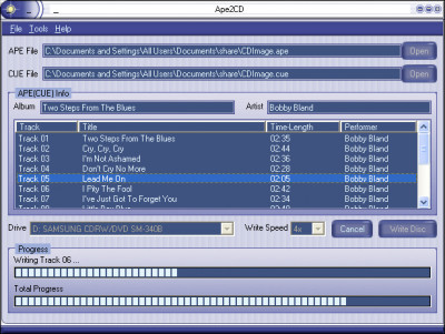 Ape2CD 5.5.6 screenshot